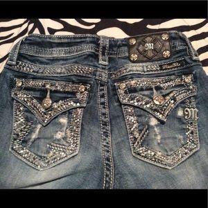 Miss Me Skinny Jeans Girls Size 12